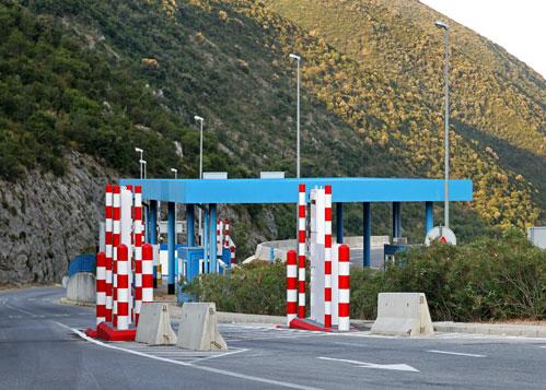 Grenze von Slowenien nach Kroatien