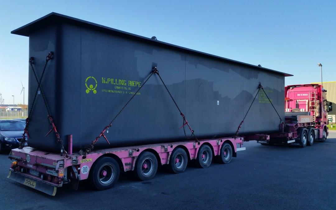Schwertransport von Ostfriesland nach Katar