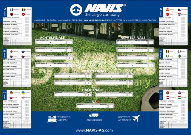 NAVIS Fußball-EM 2016 Planer zum Download