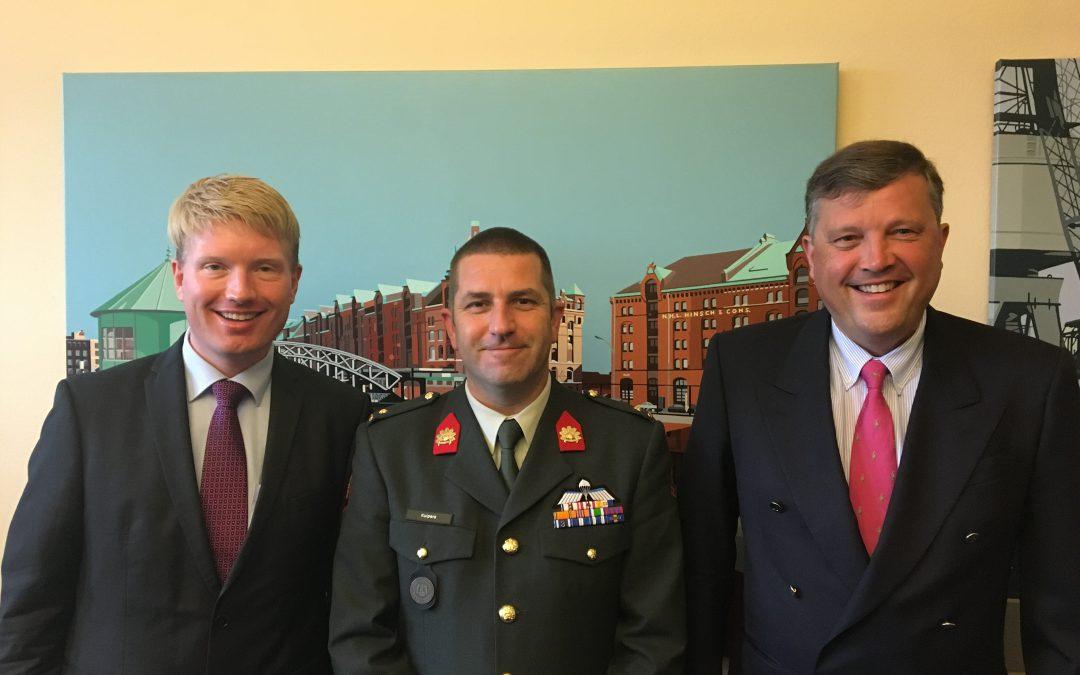Niederländischer Besuch von der Führungsakademie der Bundeswehr