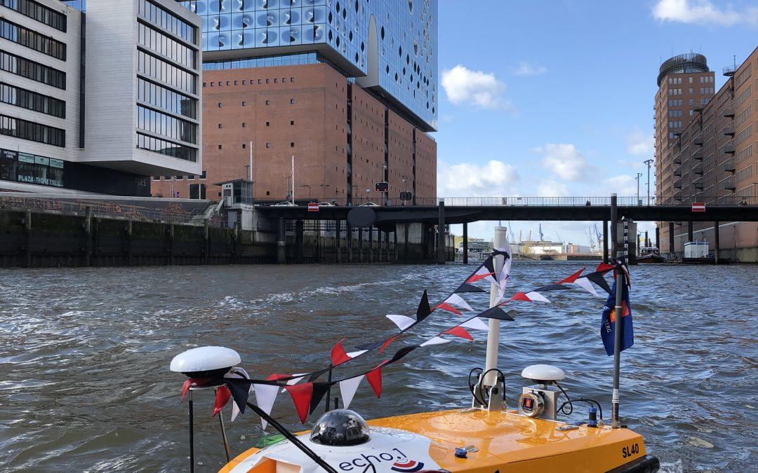 """Neueste NAVIS Segelliste KW 24 – 29/2020 online – Thema des Deckblattes:  echo.1 """"geistert"""" durch den Hamburger Hafen"""